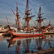 Kalmar Nyckel At Anchor In Salem Ma Poster