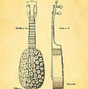 Kamaka Ukulele Patent Art 1928 Poster