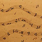 Kamasutra Music Coffee Painting Poster