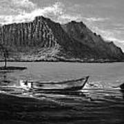 Kaneohe Bay Early Morn - Study Poster by Joseph   Ruff