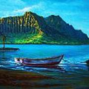 Kaneohe Bay Early Morn Poster by Joseph   Ruff