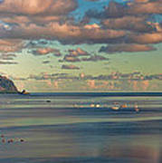 Kaneohe Bay Panorama Mural Poster