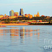 Kansas City Downtown From Kaw Point Poster