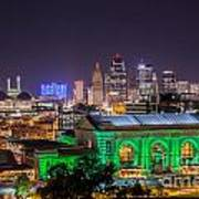 Kansas City In Lights Poster