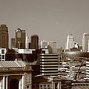 Kansas City Skyline 10 Poster