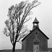 Kansas Schoolhouse Poster