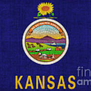 Kansas State Flag Poster