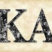 Kappa Alpha Society - Parchment Poster