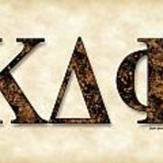 Kappa Delta Phi - Parchment Poster