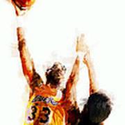 Kareem Abdul Jabbar N B A Legend Poster