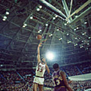 Kareem Abdul Jabbar Sky Hook Poster by Retro Images Archive