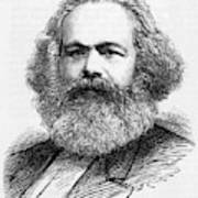 Karl Marx  German Radical Political Poster