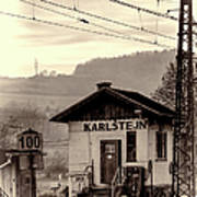Karlstejn Railroad Shack Poster by Joan Carroll