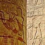Karnak Temple Detail Poster