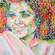 Kathleen Battle - Watercolor Portrait Poster