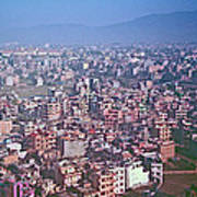 Kathmandu From The Airplane-nepal  Poster