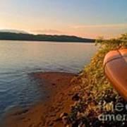Kayak On The Hudson Poster