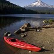Kayak On Trillium Lake Poster