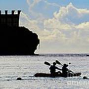 Kayaking Across The Bay Poster