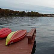 Kayaks By The Lake Nj Poster