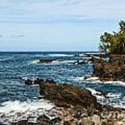 Keanae Coast - The Rugged Volcanic Coast Of The Keanae Peninsula In Maui. Poster