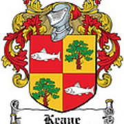 Keane Coat Of Arms Clare Ireland Poster
