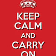 Keep Calm 2 Red Poster