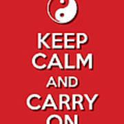 Keep Calm Yinyang Red Poster