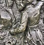 Keep Moving - Charge Of The 106th Pa Volunteer Infantry To The Emmitsburg Road Detail-a Gettysburg Poster by Michael Mazaika