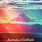Kenai Alaska Mount Redoubt Poster