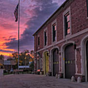 Kenmore Fire Hall Sunset Poster