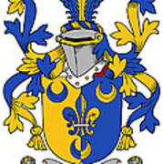 Kenney Coat Of Arms Irish Poster