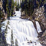 Kepler Cascades Yellowstone National Park Poster