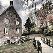 Kerr Grist Mill Stormy Skies Panorama Poster