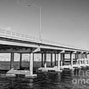 Key Biscayne Bridge Bw Poster