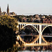 Key Bridge And Georgetown University Washington Dc Poster
