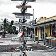 Key West Wharf Poster