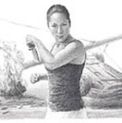 Kick Butt Instructor Pencil Portrait Poster