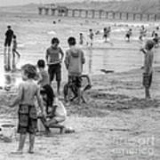 Kids At Beach Poster