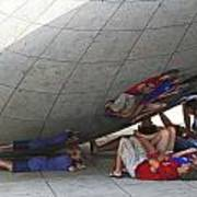 Kids At The Bean Poster