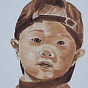 Kids In Hats - Young Baseball Fan Poster
