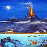Kilauea Volcano Hawaii Poster