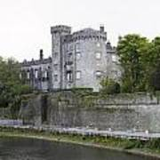 Kilkenny Castle Seen From River Nore Poster