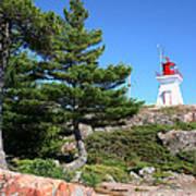 Killarney Lighthouse On The Rocks  Poster