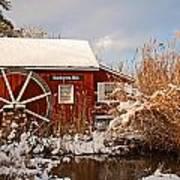 Kimberton Mill After Snow Poster