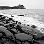 Kimmeridge Bay In Black And White Poster