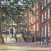 Kings Bench Walk, Inner Temple Oil On Canvas Poster