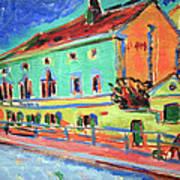 Kirchner's Houses In Dresden Poster