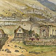 Kirk G Boe Inn And Ruins Faroe Island Circa 1862 Poster by Aged Pixel