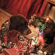 Kiss At Christmas Poster